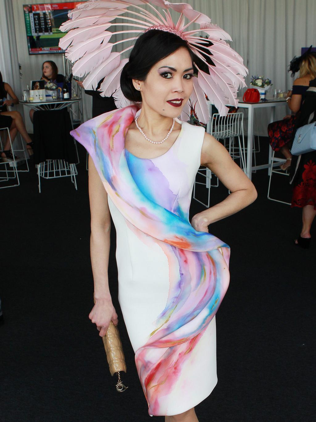Myer Fashions on the Field at Ascot. Elis Crewews. Picture: Sean Middleton