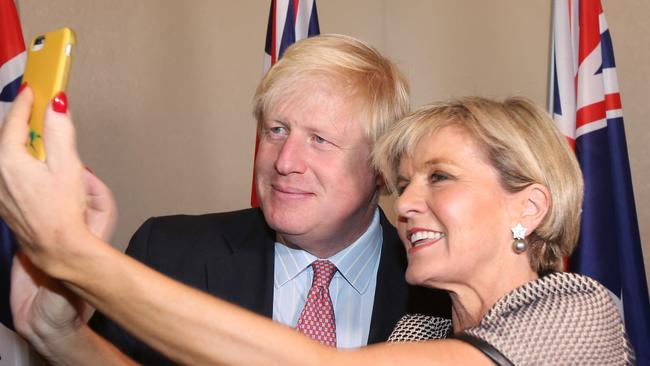 Image result for julie bishop[ selfie boris johnson