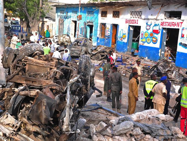 Al-Shabab claimed responsibility for the attack. Picture: AFP/Mohamed Abdiwahab
