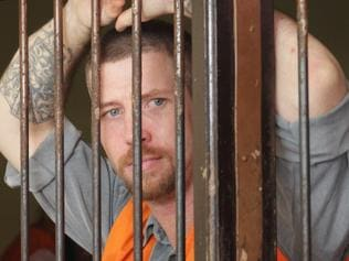 23 June 2016 - Australian Shaun Edward Davidson, 31 inside Denpasar District Court cell waiting his first trial of using fake identification and over staying in Bali. Picture: Lukman S. Bintoro