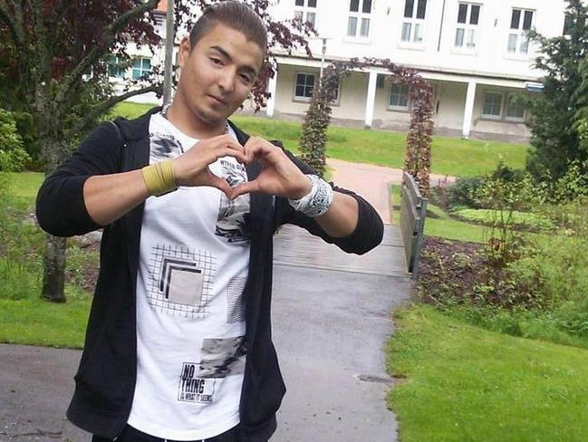 Convicted killer and rapist Hussein Khavari makes a heart shape with his hands in an undated photograph. Picture: Facebook