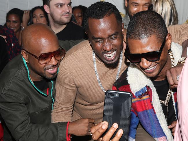 Usher, pictured with Jermaine Dupri and Sean 'Diddy' Combs in December. Picture: Jerritt Clark/Getty Images for Ciroc
