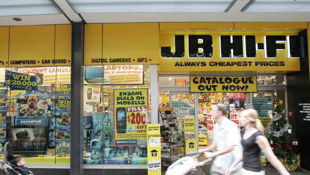 jb hi fi braced for softer sales herald sun. Black Bedroom Furniture Sets. Home Design Ideas