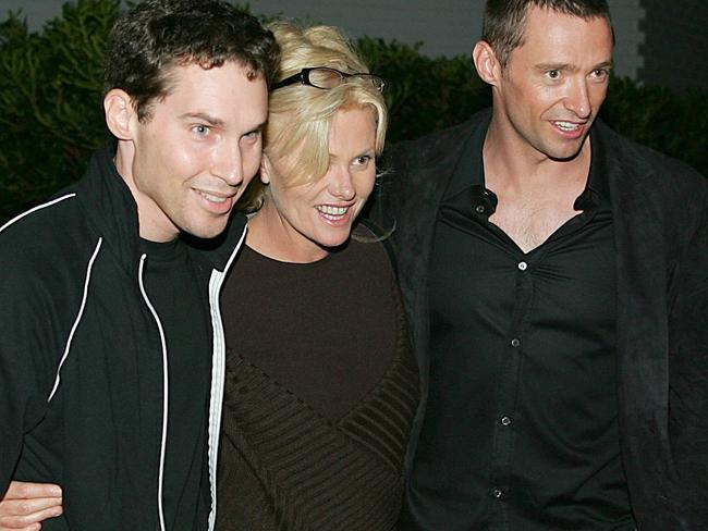 Singer with Hugh Jackman and wife Deborra-Lee Furness in 2005.