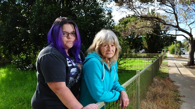Bombay St residents Kathy McDonald and daughter Cheyanne McDonald-Di Sotto, 17. Picture: Mark Brake