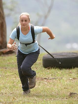 Toowoomba adventurer and mountain climber Alyssa Azar in training before her attempt to c