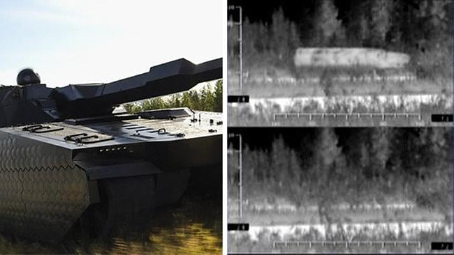 BAE Systems is developing a system of hexagonal plates to disguise tanks in the infra-red and other spectra.