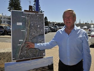 Premiere Colin Barnet makes a announcement about redevelopment at Scarborough Beach.                  Picture:KERRIS BERRINGTON Picture: Kerris Berrington