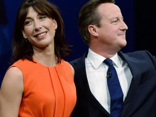 MANCHESTER, ENGLAND - OCTOBER 07: Prime Minister David Cameron poses with wife Samantha after his keynote speech on the fourth and final day of the Conservative Party Conference, at Manchester Central on October 7, 2015 in Manchester, England. Mr Cameron has announced plans to encourage developers to build 200,000 new 'affordable' homes for first time buyers. The initiative is set up to secure the homes by the end of the parliament, and is one of the key election pledges of the Conservative's election campaign. (Photo by Stefan Rousseau - WPA Pool /Getty Images)