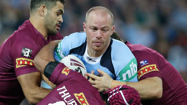 Beau Scott playing for NSW in Origin.