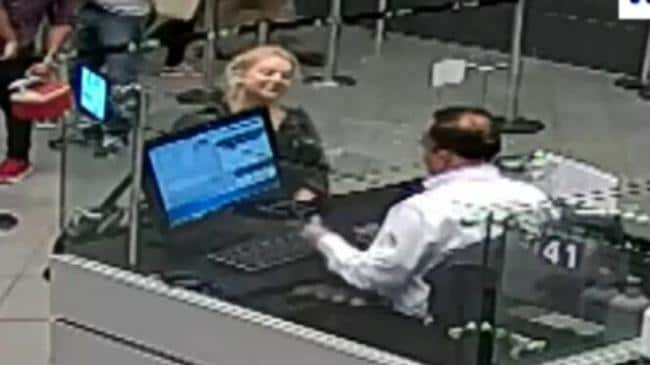 Sainsbury was carrying 5.8kg of cocaine in her headphones. Picture Channel Nine.