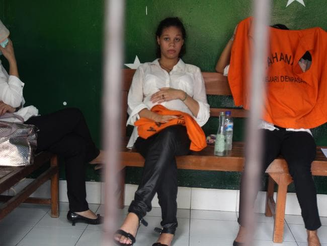Baby bump ... American Heather Mack at Denpasar District Court for her first appearance. Picture: Lukman S Bintoro