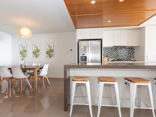 The three-bedroom, two-bathroom unit is the first apartment to be auctioned online for charity. Photo: North South Real Estate