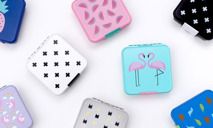 "<p><b>Little Lunch Box Co – RRP $42.95</b></p>  <p><b>Pros:</b> This company was started by an Aussie mum. Little Lunch Box Co boxes are a BPA-free plastic bento-style lunch box with a large front clip that is suitable for small hands to manage. There are stacks of really cute designs that the kids will enjoy. A Bento Three would be good if you want to pack sandwiches, and the Five would work well for a tapas-style lunch. The lunch boxes are leak-proof which is perfect for including yoghurts, dips and frozen fruit.</p>  <p><b>Cons:</b> Like many of the bento options, these lunch boxes are expensive. It's also recommended that this lunch box is hand washed, rather than washed in the dishwasher.</p>  <p>Kylie from Kidgredients says, ""Washing by hand is the bane of my life, so this is a big issue for me!""</p>"