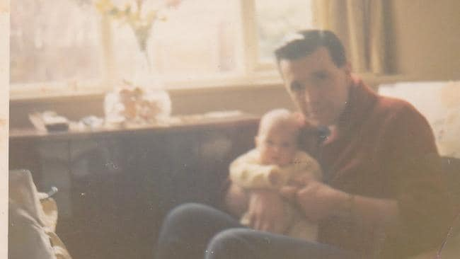 David with his father in the 1960s.