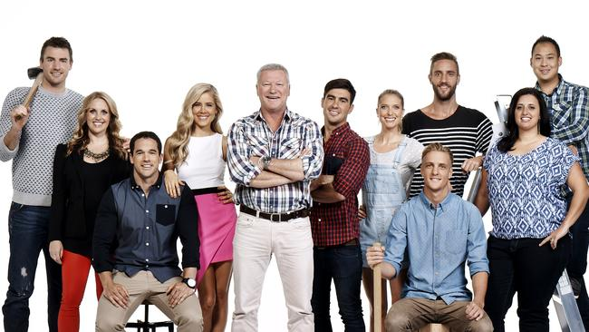 Scott Cam with The Block Glasshouse contestants.
