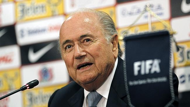 Here if you want me ... FIFA President Sepp Blatter says he will run again for his job if people want him to stick around.
