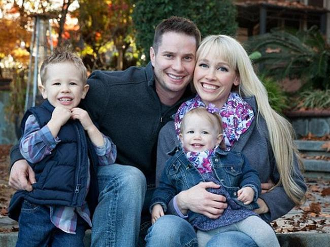Sherri pictured with her husband Keith and their two children. Picture: Facebook
