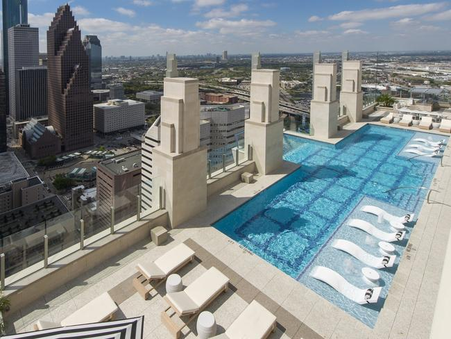 Swimming pool with glass bottom market square tower - Above ground swimming pools houston ...