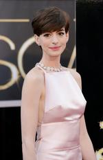 Let's get straight to the point! Anne Hathaway's blushing-pink gown gained attention from critics for the wrong reasons in 2013. Funnily enough the actress actually issued a formal apology for the Prada creation, but not for the distractingly-perky nipple area ... rather for changing her mind at the last minute when she discovered someone else was wearing a similar gown to her original Valentino number. Picture: Getty