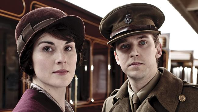 "Lady Mary and Matthew Crawley from ""Downton Abbey""."