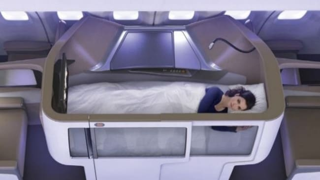 Business Class Seats Designed In Bunk Bed Formation