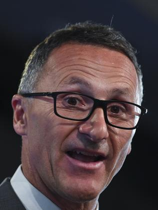 The Greens' leader Richard Di Natale will launch a new drug law reform to decriminalise cannabis. Picture: AAP Image/Lukas Coch