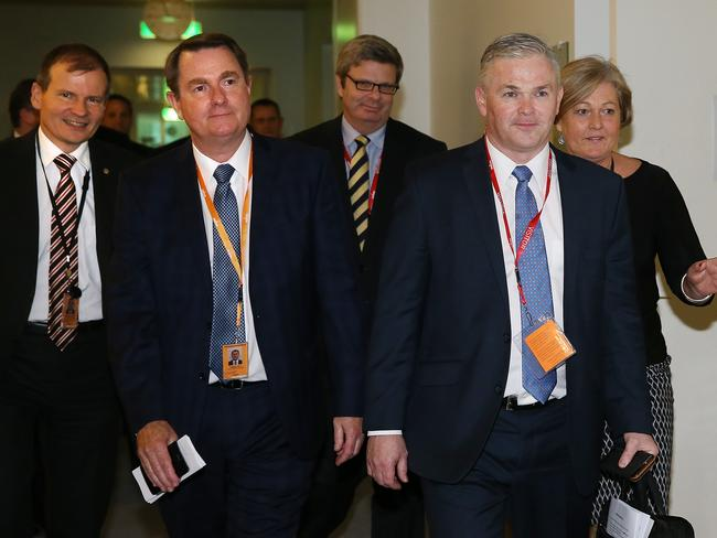 Members of the gas industry head to a meeting with Prime Minister Malcolm Turnbull this week. Picture: Kym Smith