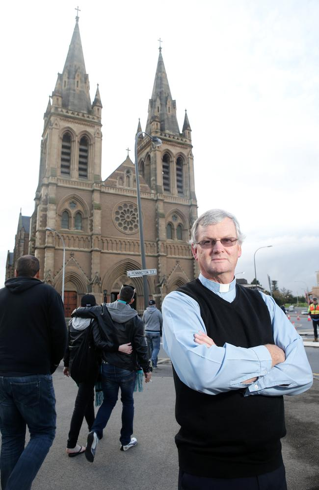 The Dean of St Peter's Cathedral, the Very Reverend Frank Nelson, at the famous Adelaide church. Pic: Calum Robertson