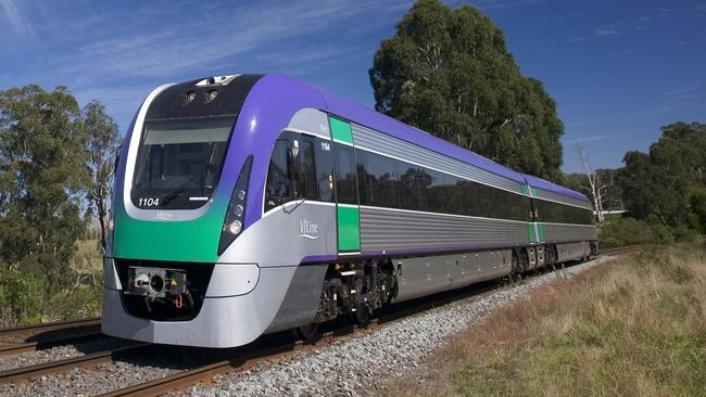 Some of V/Line's VLocity fleet were taken off Melbourne CBD tracks. They are Victoria's most modern trains.