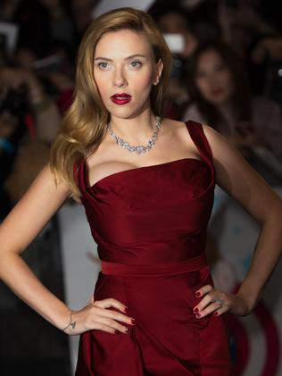 Johansson glams up for a red carpet event in London.