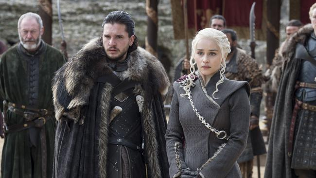 Jon Snow and Daenerys Targaryen. Picture: HBO