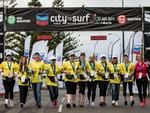 Volunteers at the Chevron City to Surf for Activ. Picture: Matthew Poon