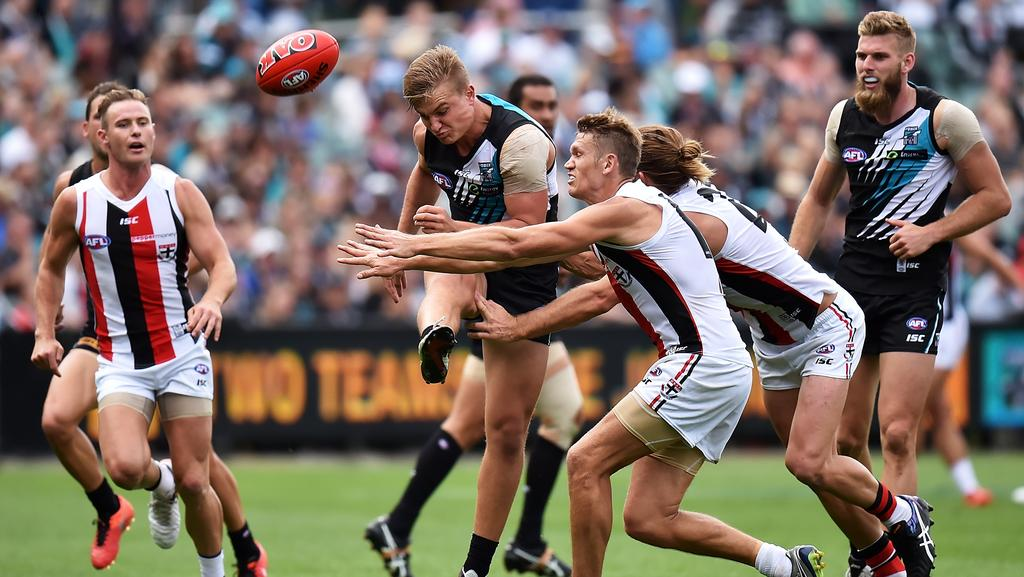 Number crunch port adelaide must find its targets in back for 979 the beat number