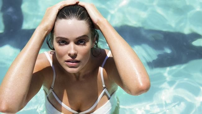 Upset with the policies of Tony Abbott ... Model Robyn Lawley.