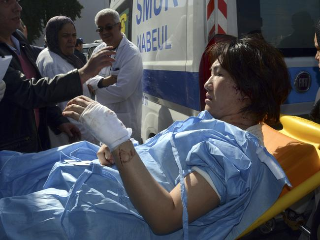 Aftermath ... A victim arrives at the Charles Nicoles hospital. Picture: AP/Edel Ezine