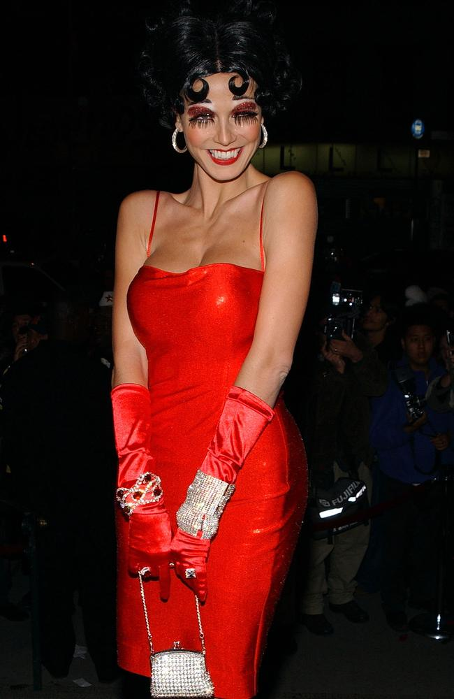 As Betty Boop in 2002. Picture: Getty