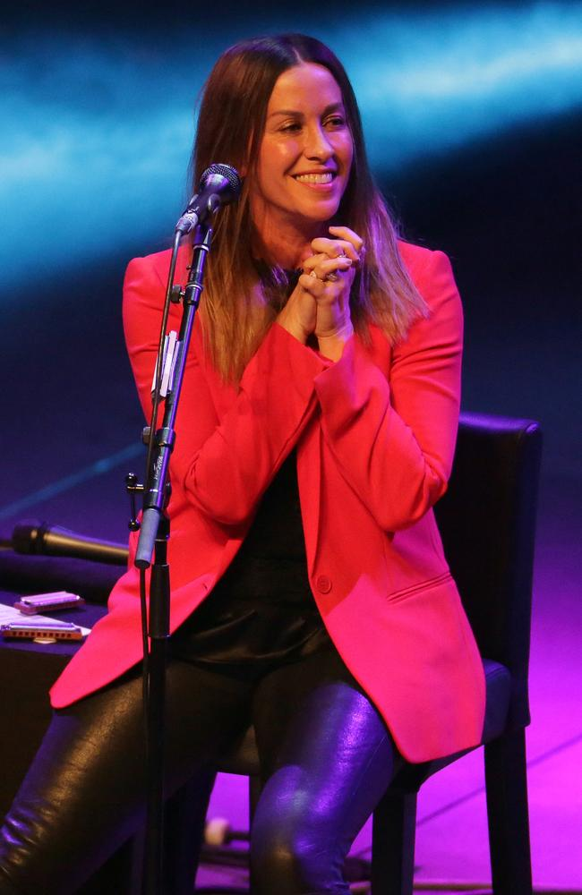 Alanis on stage in Sydney in January. Picture: Christian Gilles