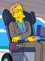 Simpsons depiction of Stephen Hawking. Picture: Supplied