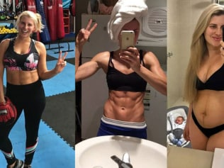 Tiffiny Hall lost 21kgs in 4 months after giving birth to her son, Arnie. Photos: Instagram @tiffhall_xo