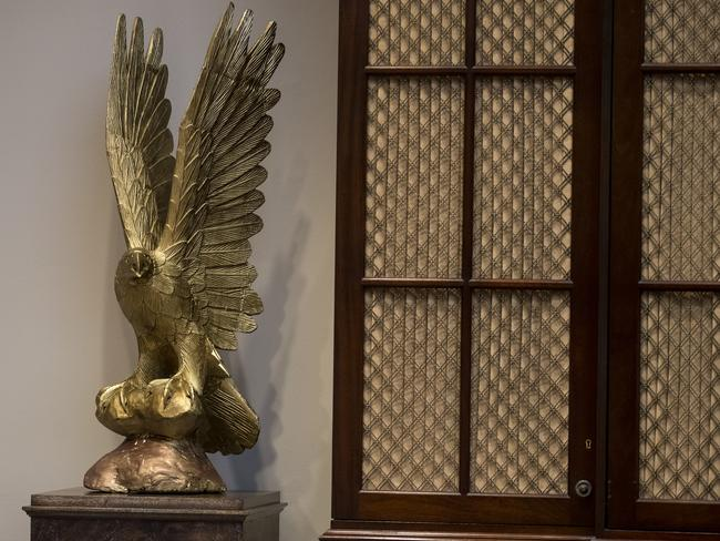 A Trump renovation wouldn't be complete without splashes of gold and bronze. Picture: AP Photo/Carolyn Kaster