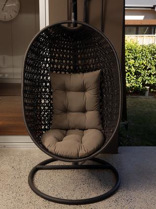 Tom Scully's outdoor chair.