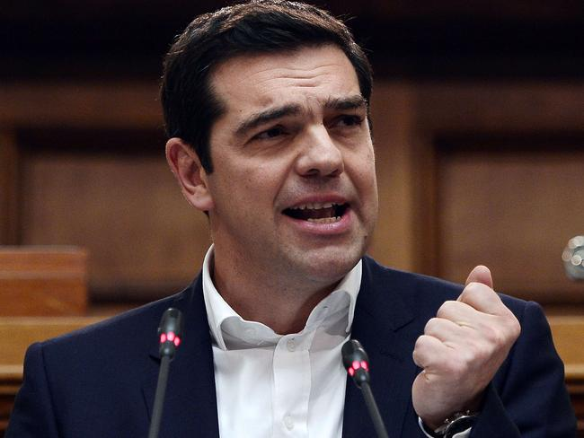 Looking for friends ... Greece's Prime Minister Alexis Tsipras. Picture: AFP