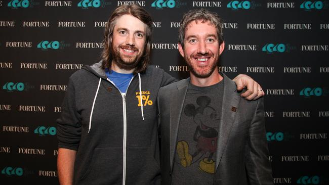 Mike Cannon-Brookes and Scott Farquhar, co-founders and co-CEOs of Atlassian. Image: Getty