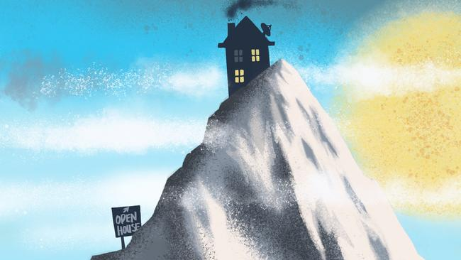 Home ownership can feel like one huge mountain to climb. Illustration: Terry Pontikos