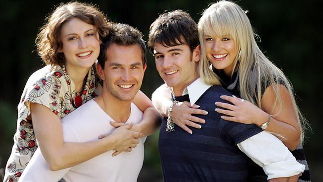 Natalie Saleeba, Christian Clark, Ben Lawson and Nicky Whelan starred in Neighbours in 2006.