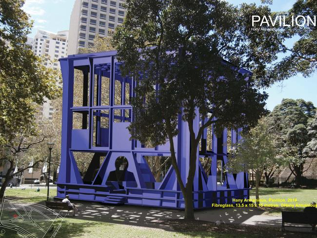 Sydney Mayor Clover Moore and the City of Sydney have copped criticism over their public artwork proposals. Picture: City Centre Public Art — Pavilion, by Hany Armanious