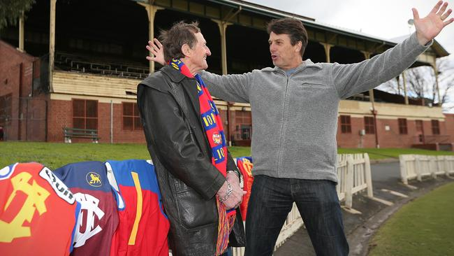 Kevin Murray and Paul Roos Both reunite at the Junction Oval. Picture: Wayne Ludbey