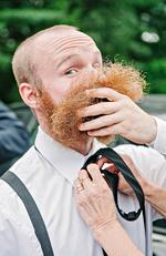 Hipster beards have their downfalls. Picture: ERICA FERRONE / ISPWP / CATERS NEWS