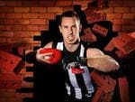 Nick Maxwell is prepared to crash through brick walls for the Pies.